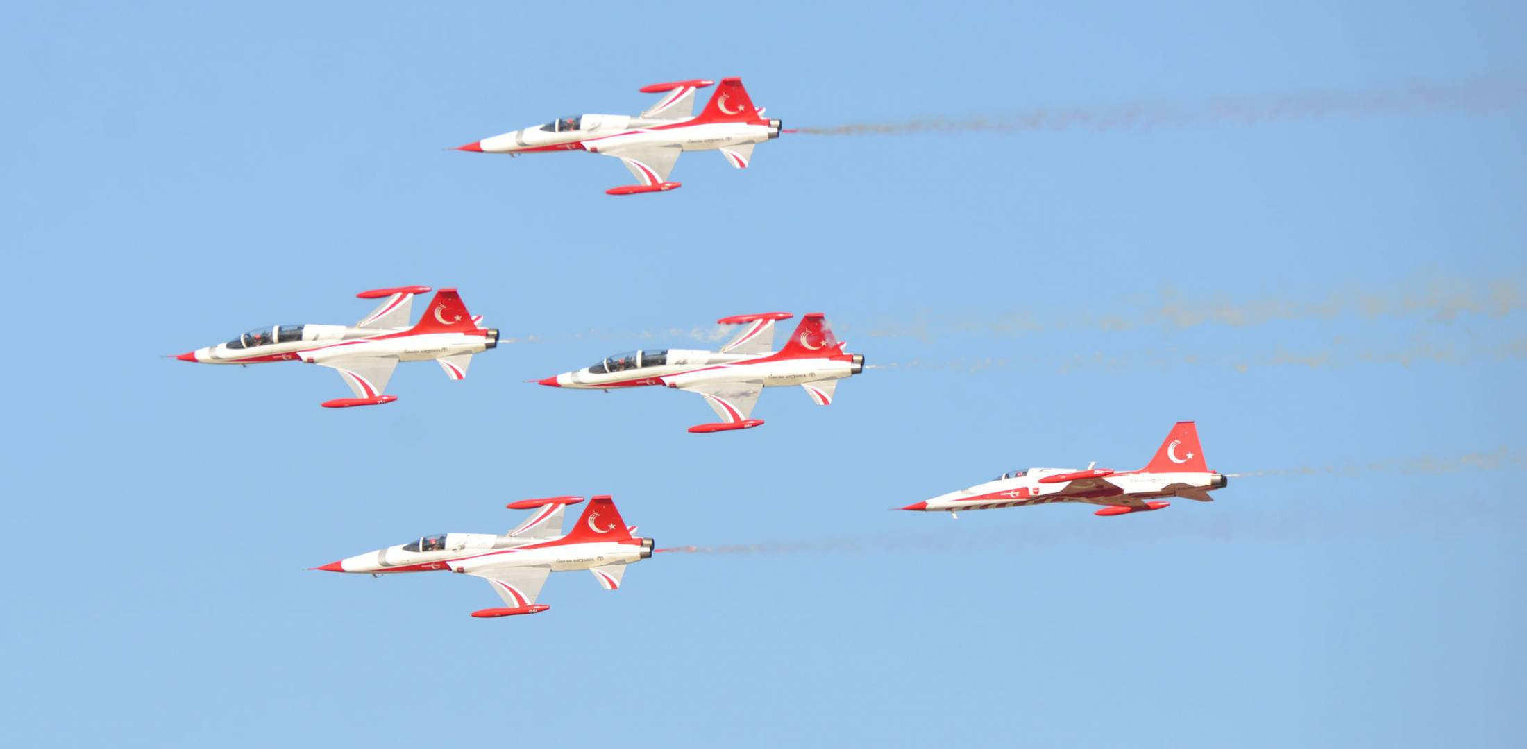 Turkish DStars F-5 formation