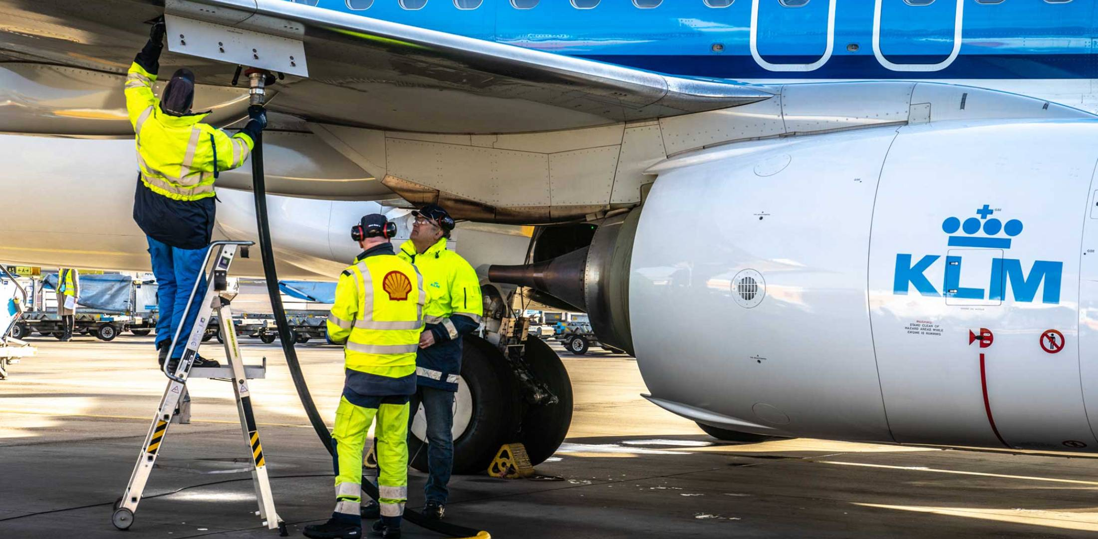 KLM flew its first passenger flight with sustainable synthetic kerosene in January.