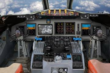 P-3B Orion flight deck by Rockwell Collins