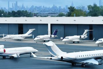 Traffic at Teterboro Airport