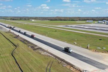 Runway work at Tampa Executive Airport