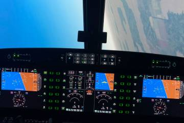 Simulation allows pilots to experience upset training scenarios close to the ground.