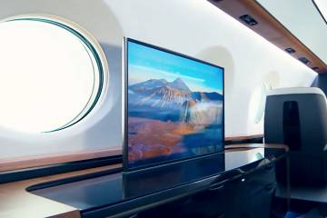 Rosen Aviation's 4K OLED displays are growing larger, with sizes up to 55 inches now available and weighing just 26 pounds, half the weight of current-generation displays.