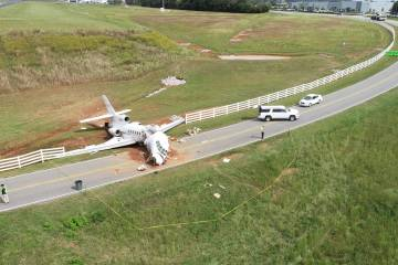 """When Falcon 50 N114TD crashed after a runway overrun on landing at Greenville, South Carolina, NTSB investigators focused on known discrepancies with the braking system but failed to dig deeply into the legality of the """"charter"""" operation."""