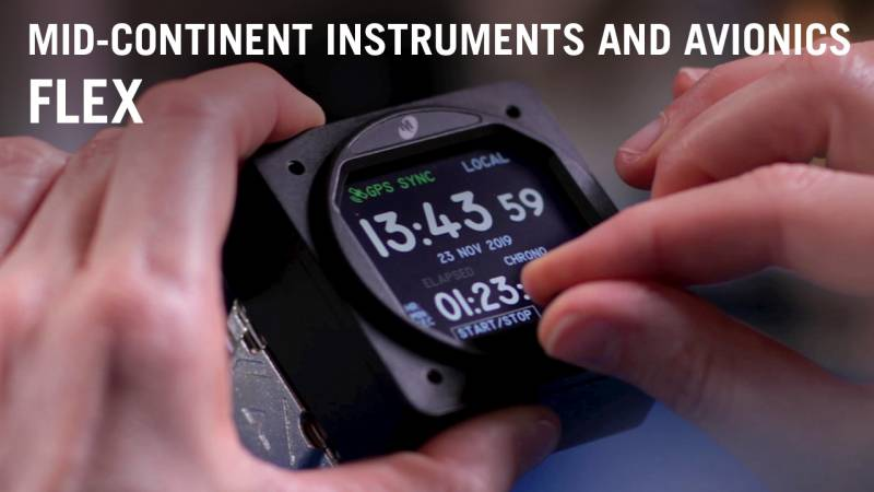 Mid-Continent's Flex Custom Function Display Simplifies Aircraft Instrument Development