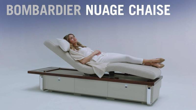 Bombardier's Nuage Chaise is a Credenza, Bench, and Chaise Lounge in One