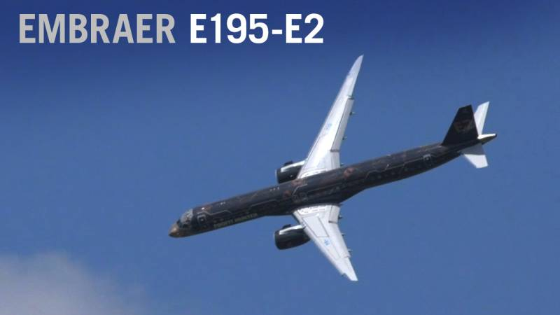 Embraer's New E195-E2 Airliner Soars at Paris Air Show